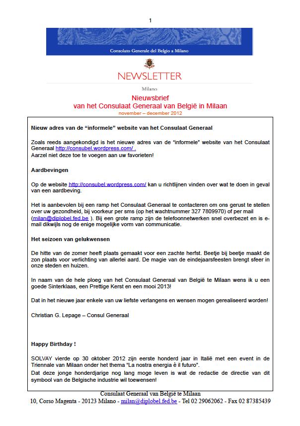 2012.12  Newsletter NL