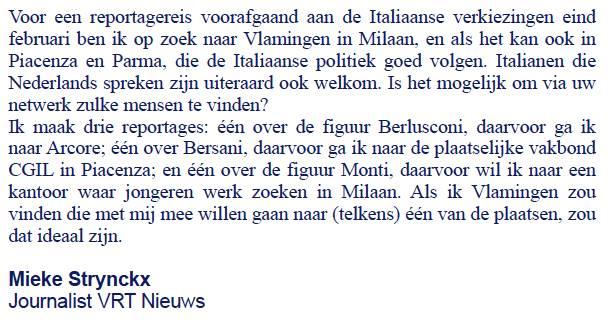 Annonce Mieke Strynckx