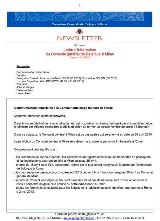 2013 03b  Newsletter FR