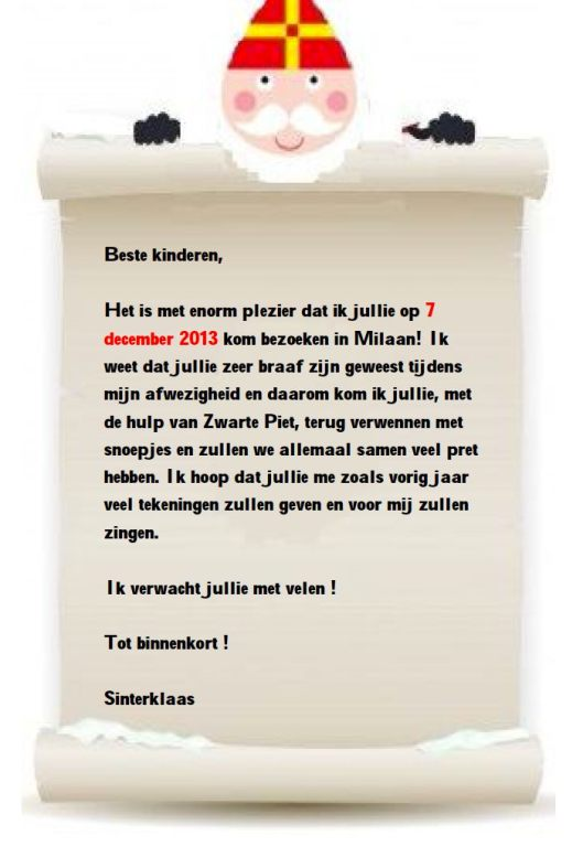 invitation Saint Nicolas NL1