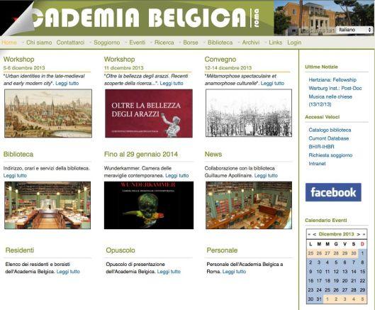 Academia Belgica home