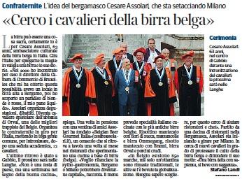 Cesare Cesare Assolari Belgian Beer Gourmet Corriere del 12:01:2014