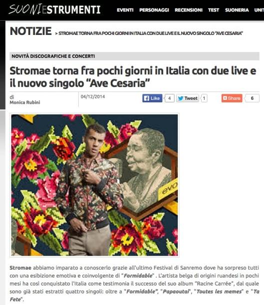 Stromae in italia 15 - 17 dicembre 2014