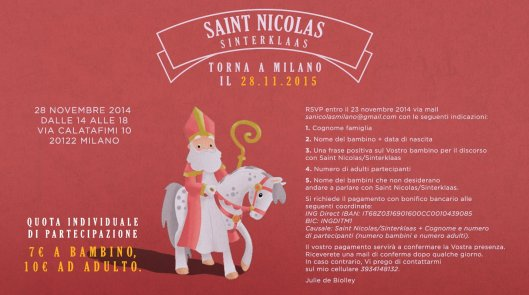 Saint Nicolas 2016 invito texto